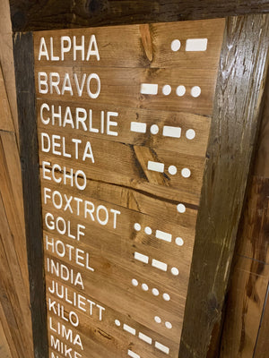 Phonetic Alphabet / Morse Code / Military Alphabet Wall Hanging