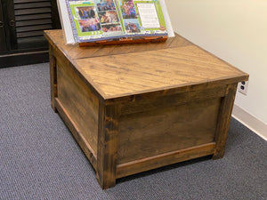 Chevron Top Hope Chest / Storage Chest / Split Lid