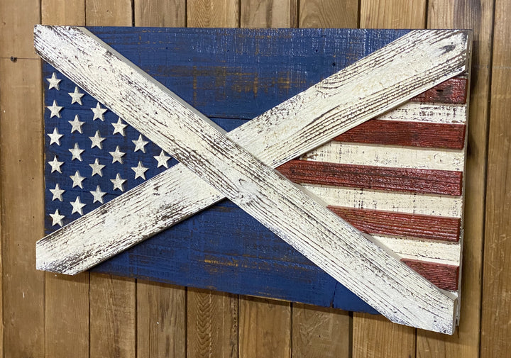 USA / Scotland Hybrid Flag