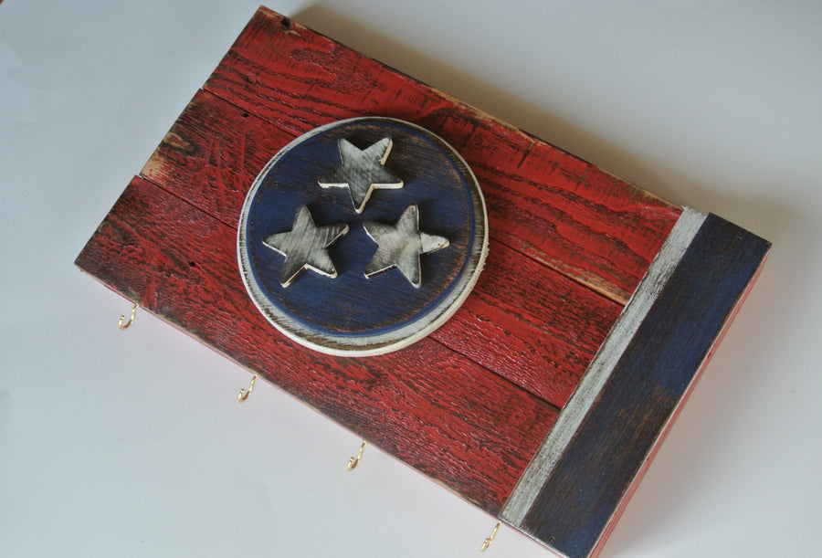 Tennessee Flag Key Rack