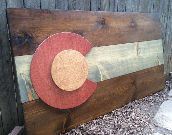 Stained Colorado Flag