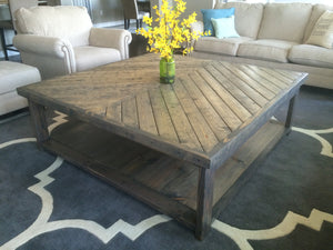 Chevron Wood Coffee Table