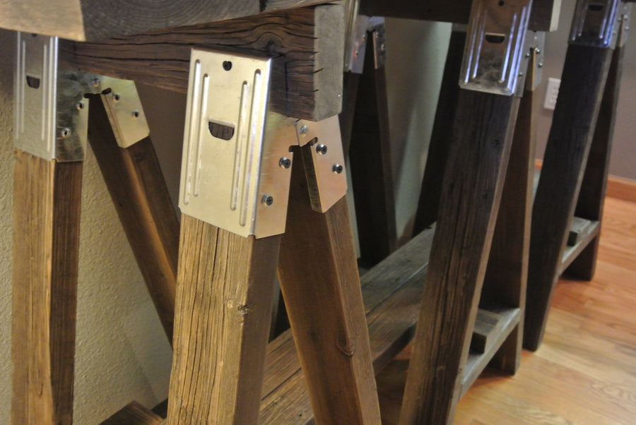 Rustic Wooden A Frame Console table