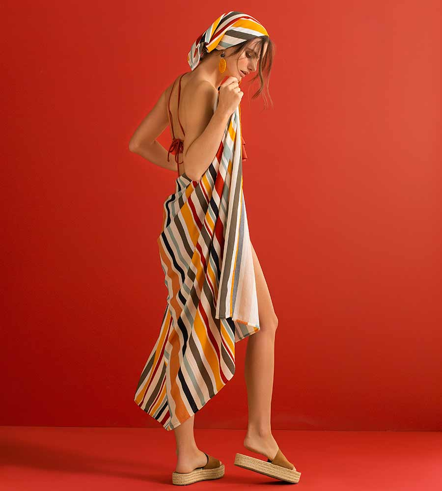 CHROMATIC STRIPES BEACH WRAP TOUCHE 0A33093