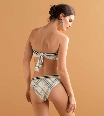 CREAM OF TARTAN HIPSTER BOTTOM TOUCHE 0P83093