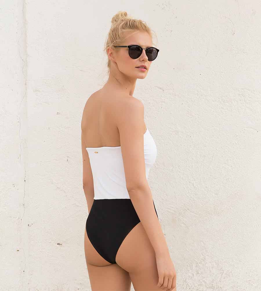 TUXEDO BANDEAU ONE PIECE BY TOUCHE