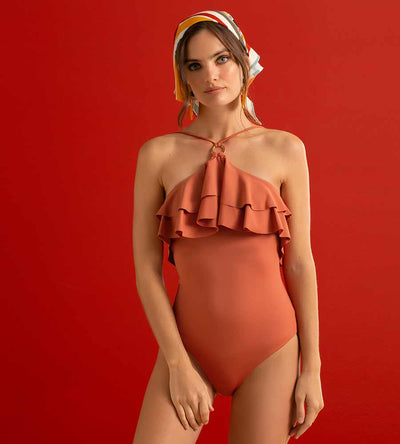 VERMILION RUFFLE ONE PIECE TOUCHE 0E90093