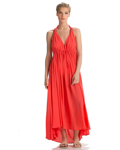 TANGERINE MAXI DRESS TOUCHE 0F11N81