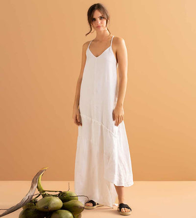 WHISPER WHITE LONG DRESS TOUCHE 0F17093