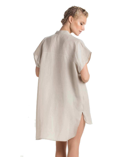 TAUPE SHORT DRESS TOUCHE 0F42P81