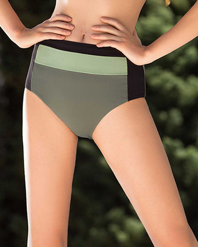 ARMY BLOCKS HIGH WAIST BOTTOM TOUCHE 0P49072