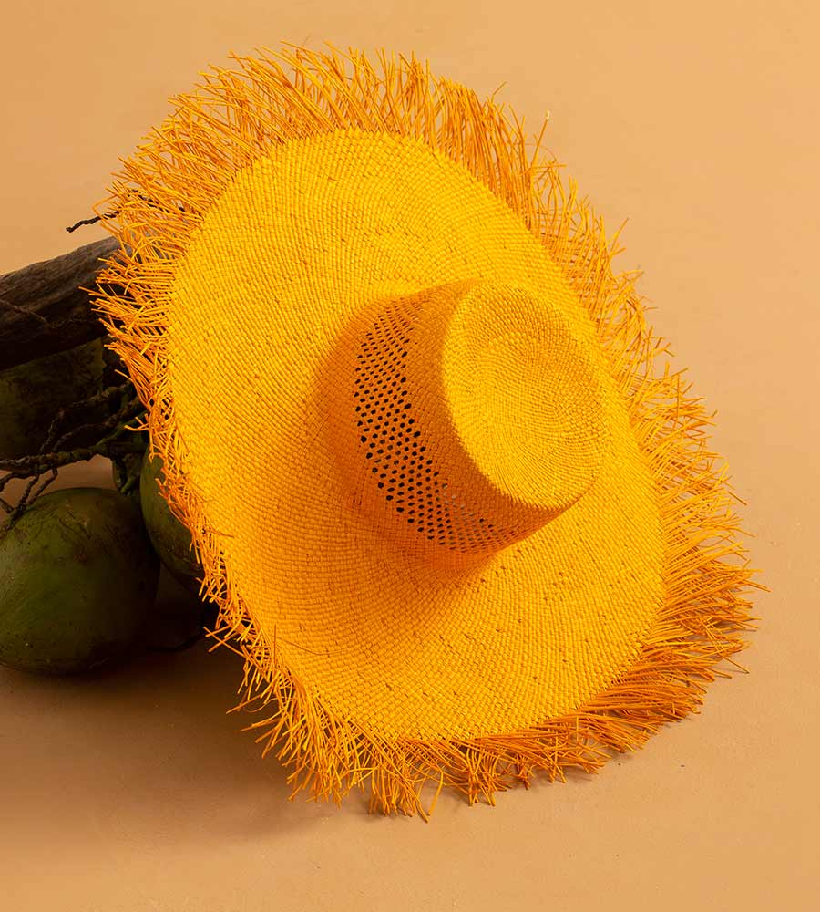 GOLDENROD LARGE SUMMER HAT TOUCHE 0S55A93