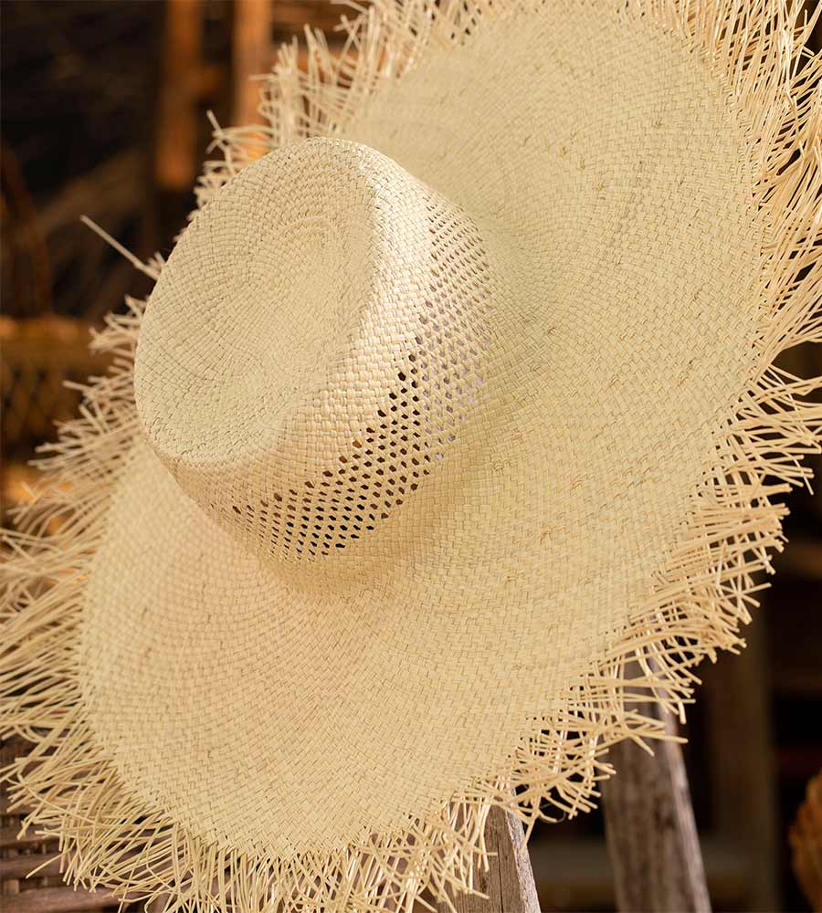 BISCUIT LARGE SUMMER HAT TOUCHE 0S55N93