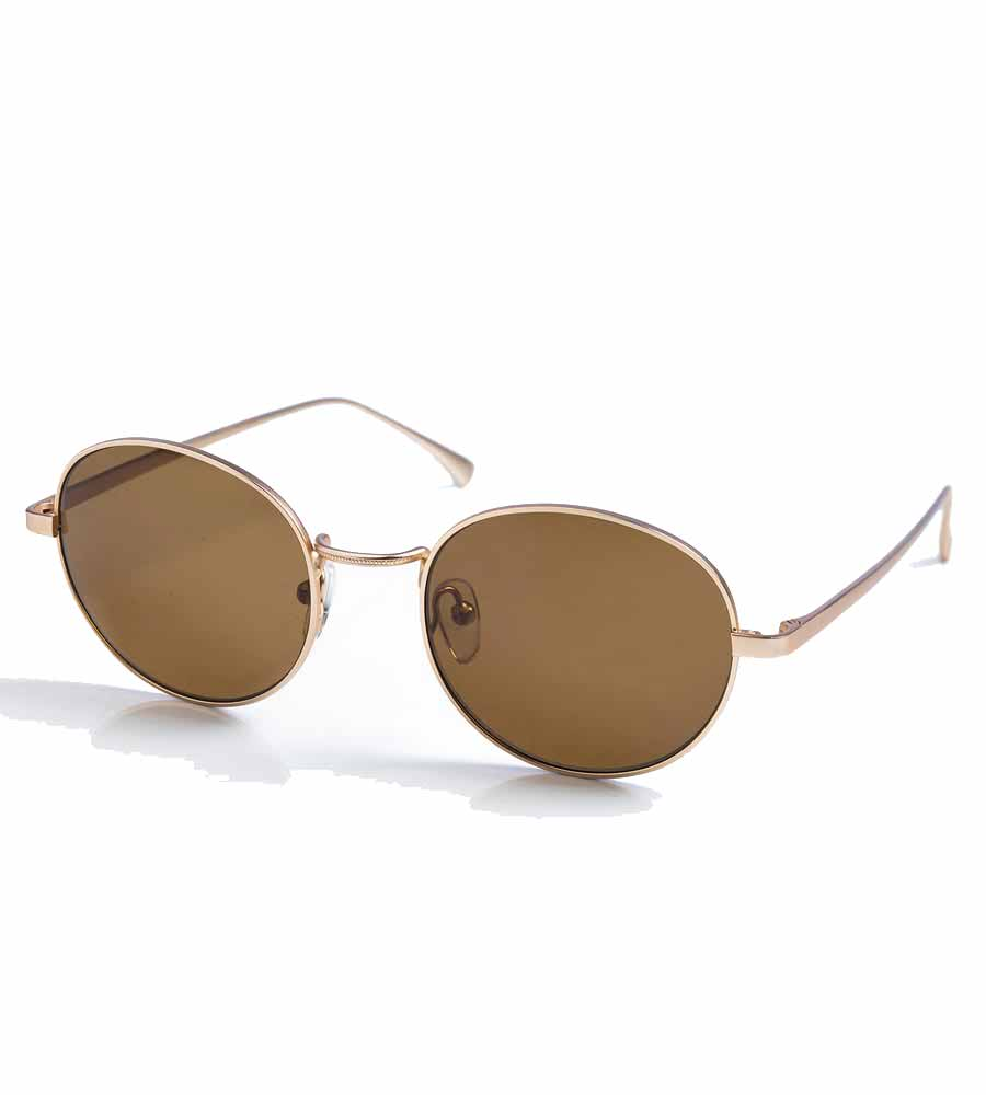 BROWN ROUND LENS SUNGLASSES TOUCHE 0S82091