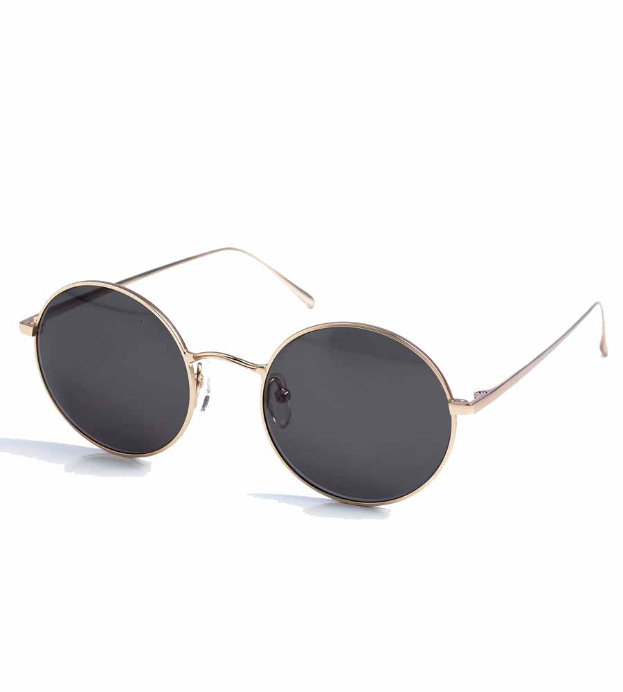 BLACK ROUND LENS SUNGLASSES TOUCHE 0S83091