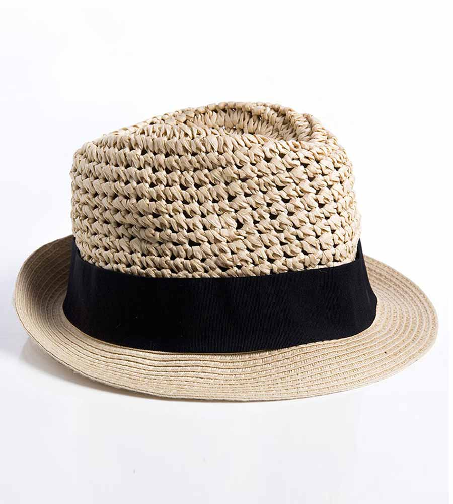 NATURAL FEDORA HAT TOUCHE 0S87091
