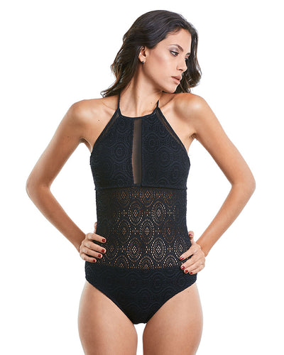 CROCHET MANIA HIGH NECK ONE PIECE PRAIA BRAVA 1040215