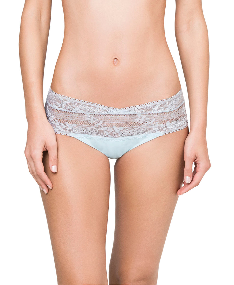 LIGHT BLUE LACE BOYSHORT KIBYS 10676.BLU