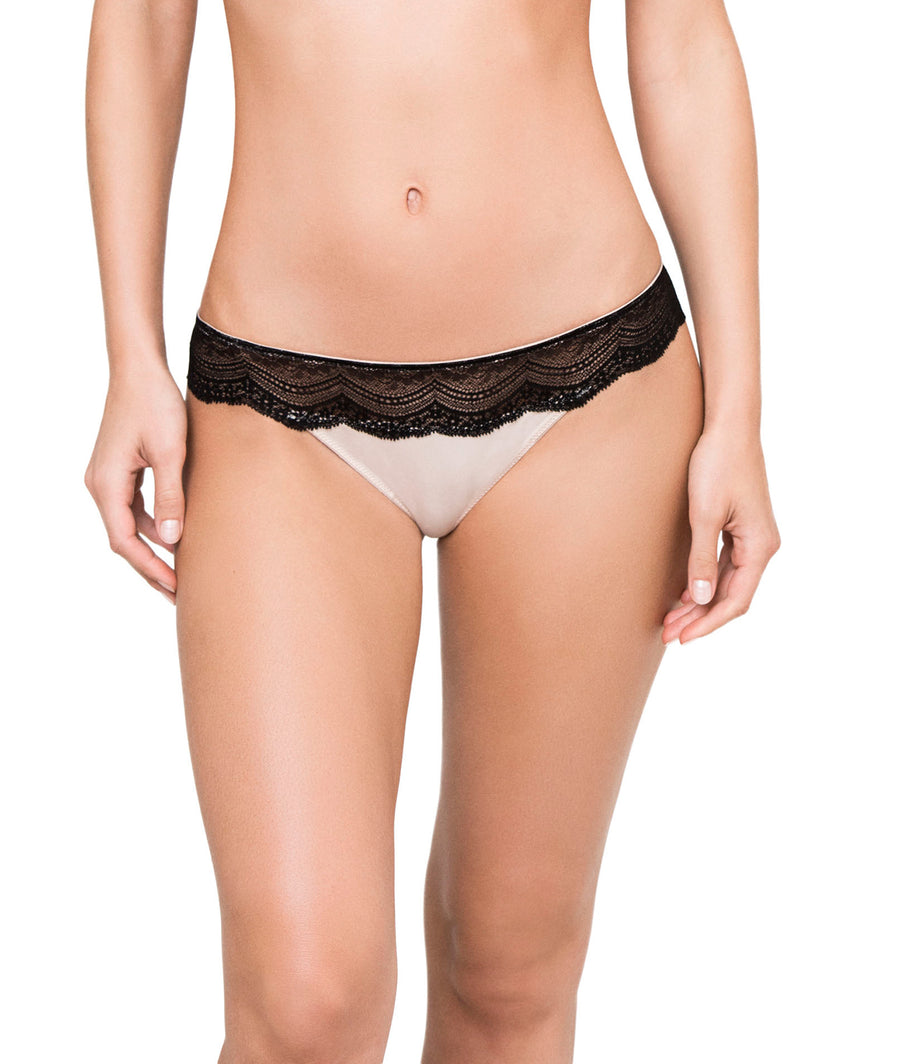 BLACK SEXY AND SWEET THONG KIBYS 10723.BLK