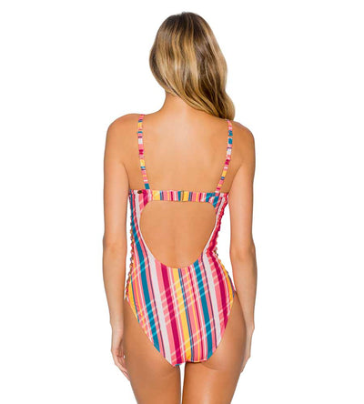 BUNGALOW STRIPE BORDERLINE ONE PIECE SUNSETS 115BUNG