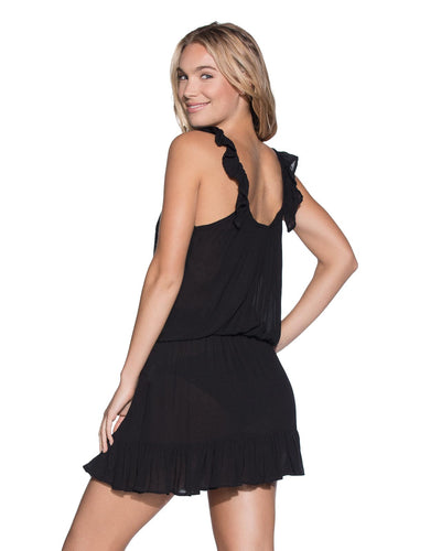 JET BLACK SHORT DRESS MAAJI 1477CSD02