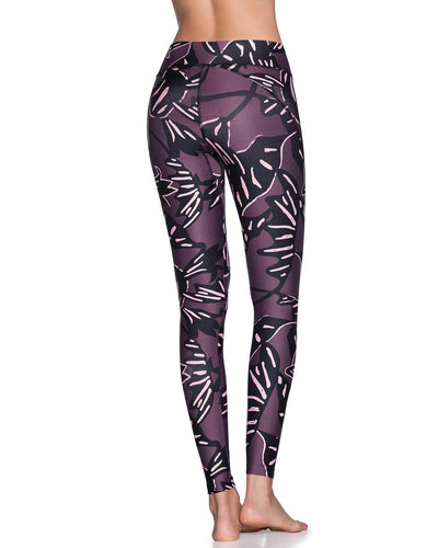 DAZZLING LEAF AMETHYST MID RISE FULL LEGGING MAAJI 1786ALL02