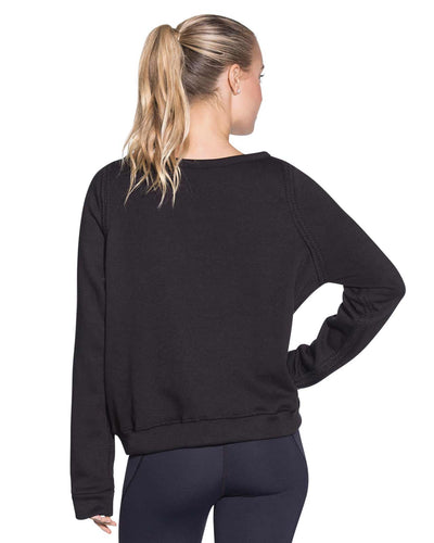 WATERWAY BLACK REVERSIBLE PULLOVER SWEATSHIRT MAAJI 1800ASA03