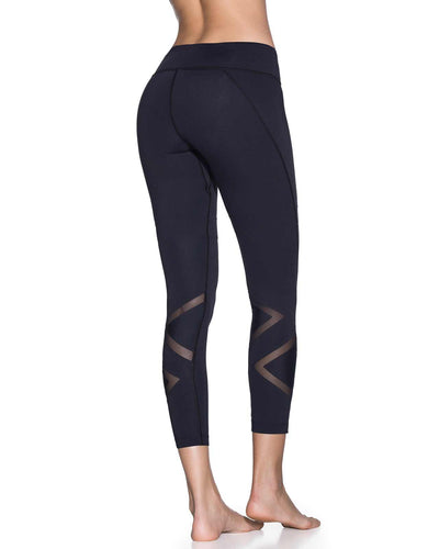 DAZEFUL SWITCHBACK BLACK EMANA MID RISE 7/8 LEGGING MAAJI 1813ALM06