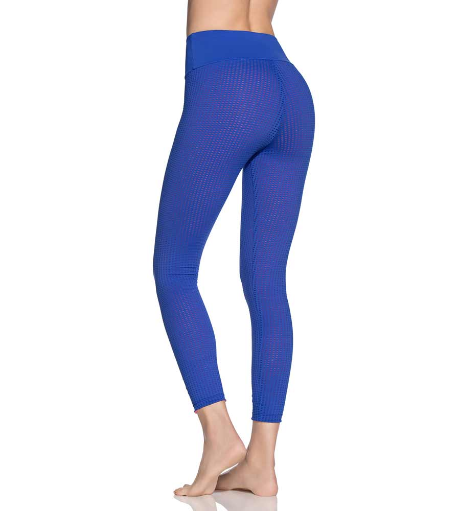 DOUBLE DREAM MESH AZURE REVERSIBLE HIGH RISE 7/8 LEGGING MAAJI 1822ALM09