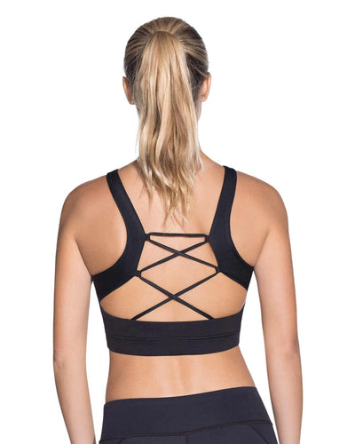 INERTIA BLACK EMANA HIGH IMPACT SPORTS BRA MAAJI 1827ASB01