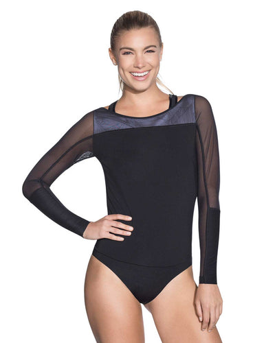 WARRIOR BLACK BODYSUIT MAAJI 1828ABD01