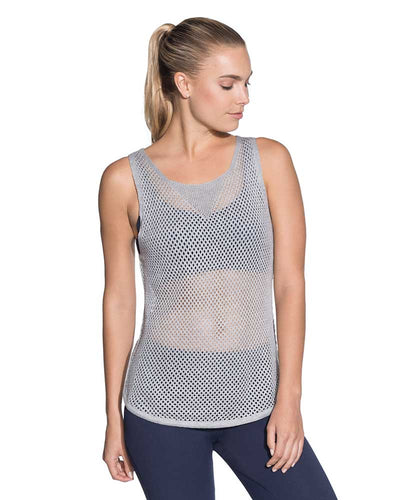 MYSTIC PEBBLE COTTON MESH TANK TOP MAAJI 1857ATT02