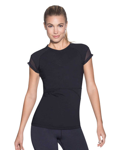 CHILL BLACK SHORT SLEEVE TECH TOP MAAJI 1861AST01