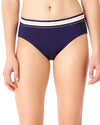 ELASTIC SOLIDS NAVY BOY BRIEF BIKINI BOTTOM ANNE COLE 18LB30401-NAVY