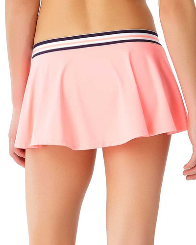 ELASTIC SOLIDS HOT TAMALE ZIP SKIRTED BIKINI BOTTOM ANNE COLE 18LB40101-COR