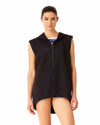 HAWAIIAN PUNCH BLACK SLEEVELESS HOODIE ANNE COLE 18LC51680-BLK