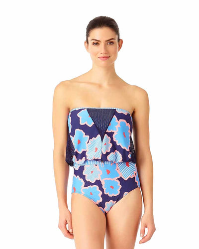 CORDINATION DRAWCORD STRAPLESS ONE PIECE ANNE COLE 18LO00976-MULT