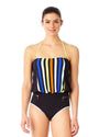 STRIPE OUT BLOUSON ONE PIECE ANNE COLE 18LO01485-MULT