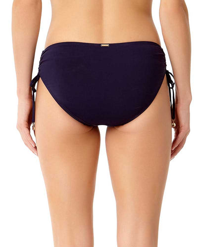 LIVE IN COLOR NEW NAVY SIDE TIE BIKINI BOTTOM ANNE COLE 18MB30001-NAVY
