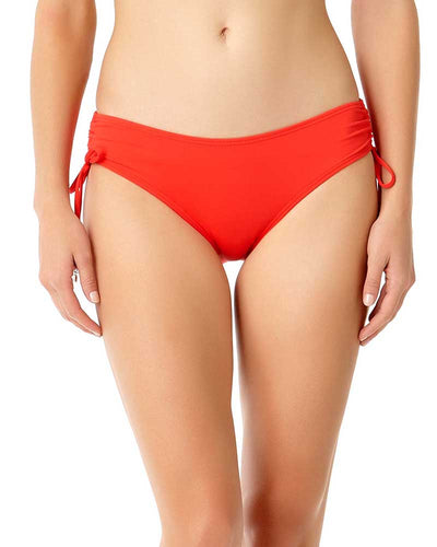 LIVE IN COLOR FIREBALL SIDE TIE BIKINI BOTTOM ANNE COLE 18MB30001-RED