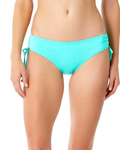 LIVE IN COLOR TURQS AND CAICOS SIDE TIE BIKINI BOTTOM ANNE COLE 18MB30001-TURQ