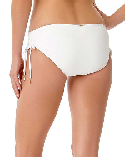 LIVE IN COLOR WHITE SIDE TIE BIKINI BOTTOM ANNE COLE 18MB30001-WHT