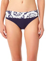 PATTIE PAISLEY FOLDOVER BIKINI BOTTOM ANNE COLE 18MB30258-NAWH