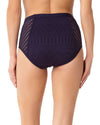 CROCHET ALL DAY NAVY CROCHET HIGH WAIST BIKINI BOTTOM ANNE COLE 18MB31503-NAVY