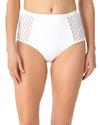 CROCHET ALL DAY WHITE CROCHET HIGH WAIST BIKINI BOTTOM ANNE COLE 18MB31503-WHT