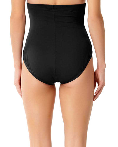 LIVE IN COLOR BLACK NOIRE CONTROL HIGH WAIST BOTTOM ANNE COLE 18MB36401-BLK