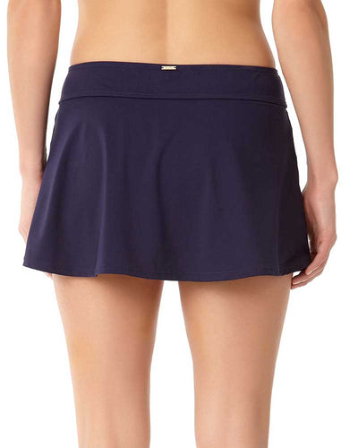 LIVE IN COLOR NEW NAVY ROCK SWIM SKIRT ANNE COLE 18MB40001-NAVY