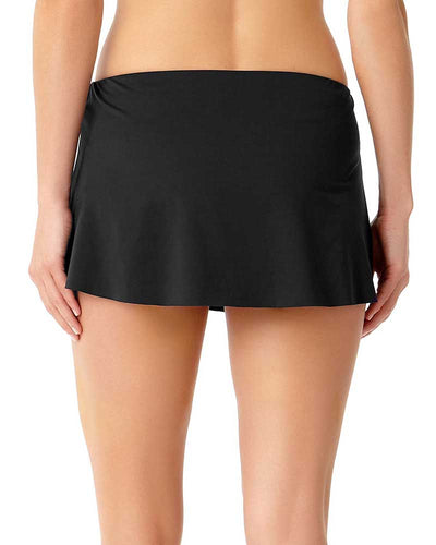 LIVE IN COLOR BLACK NOIRE SARONG SWIM SKIRT ANNE COLE 18MB40201-BLK