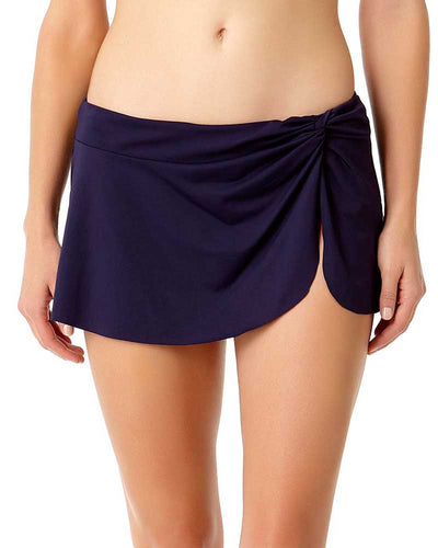 LIVE IN COLOR NEW NAVY SARONG SWIM SKIRT ANNE COLE 18MB40201-NAVY