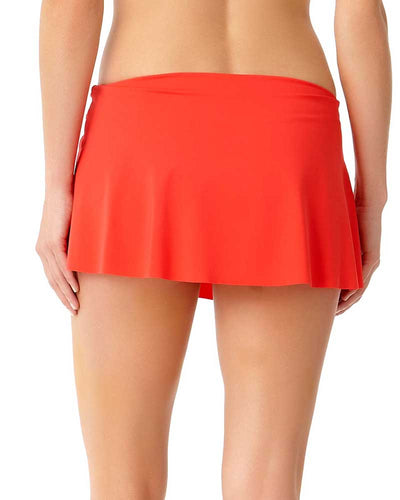 LIVE IN COLOR FIREBALL SARONG SWIM SKIRT ANNE COLE 18MB40201-RED
